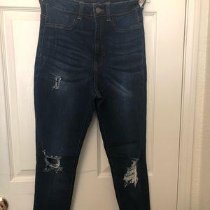 Fashion Nova High-Waisted, Ripped Jeans